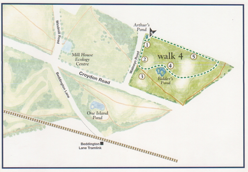 Walk 4 map - Over the hills